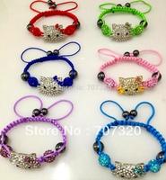 kid hello kitty  Shamballa jewelry Ball Bead Shamballa Bracelet SB7143A