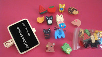 FREE SHIPPING Brooch Fashion Pin Cartoon Animal Wood Children Cute Kids Gift Handmade Ornament Promotion 108pcs/lot say hi 03262