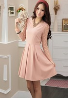 2013 New women's Skirt Mini O-Neck Dot Cute Fashion Full Dress Autumn and Winter  Skirts Women 2013 Short