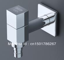 Free shipping 100%  Garantee brass square  washing machine fast open faucet lengthen mop pool single cold small net(China (Mainland))