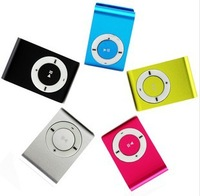 Cheap 1PC mini Clip mp3 player support micro sd card with Gift box+earphone+usb line