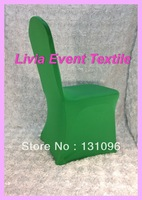 100pcs Factory Direct Sale High Quality Green Lycra Chair Cover  Arch Front for Wedding Events &Party Decoration