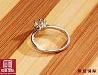 PT950 NSCD  diamond jewelry diamond ring wedding ring simulation of high-end fashion female couple rings