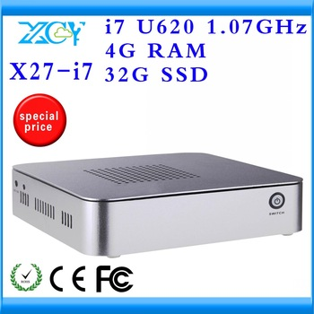 XCY X27-I7 Mini Portable Computers multi user pc station support wifi need additional $7 ultra-low-power
