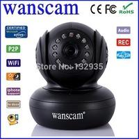 wanscam p2p pnp dual audio indoor pan/tilt mini wifi wireless ip camera support night vision free ddns 32G TF card slot
