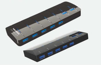 Great Quality and High-speed 5Gbps USB 3.0 Hub 7 port with power adapter ,10 times fast than USB2.0 Standard with retail packing