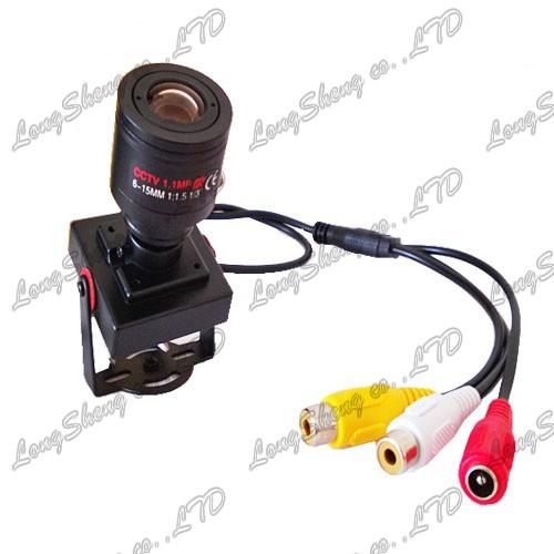 Mini CCTV camera 6-15mm Manual CCTV Lens Sony Effio-E 700TVL security camera Audio MIC(China (Mainland))