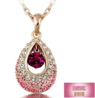 Fashion Austria Crystal  full  drop pendant necklace Austrian rhinestone crystal   wholesale