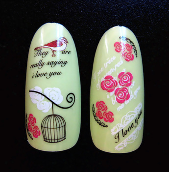 HD 2 pieces  birdcage Popular Water transfer printing HOT wholesale   nail art stamp decal