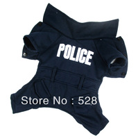 Free shipping, pet coat, warm,Police Style,pet products, dog clothes. Dog Coverall