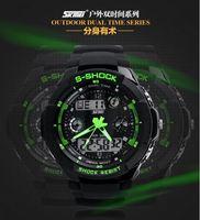 SKMEI Free ship for men waterproof hiking multifunction sports watch electronic watch 50M swim dive watch 2 time zone watch