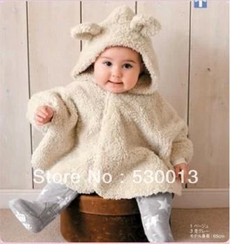 Four Seasons Cute born Baby Fleece Wear Rabbit Shape Cloak infant outerwear Children ...