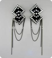 DIY Handmade accessories vintage personality elegant epaulette tassel blazer brooch shoulder mark free shipping