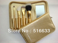 NEW ARRIVAL!!! MC BRAND limited edition luxurious baroque style set limit to golden 4pcs makeup brush set for gift,travel