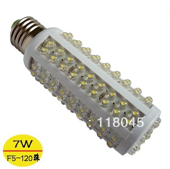 Free Shipping Hot sale E27 E14 B22 7w led corn light 5mm dip corn lighting led bulb led lamp led spot light CE RoHS(China (Mainland))