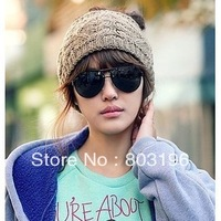 5Pcs/Lot Casual Knitted Woolen Hats Fashion Women Men Knitted Headband Keep Warm Hat Free Shipping