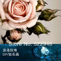 Diy rose crystal 3d cross stitch diamond painting square drill diamond painting masonry painting