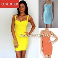 (DEIVE TEGER)Free shipping 2013   bandage Celebrity dress  Party Evening Dresses 5 colors HL737