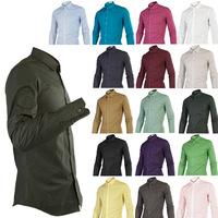 Solid color men's business shirt men's casual spring basic models long-sleeved shirt 17 color male 383