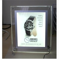 Super slim crystal lightbox for advertising/photo frames