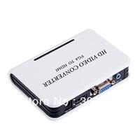 AUDIO HD HDTV VIDEO CONVERTER BOX 1080P VGA TO HDMI