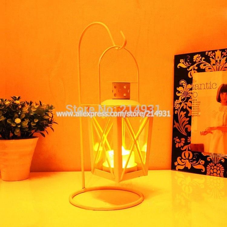 Hotsell Classical Iron Mini Storm Lantern Retro Metal Hurricane Lamp Romantic Hanging Garden Candle Holder Tealight Holder(China (Mainland))
