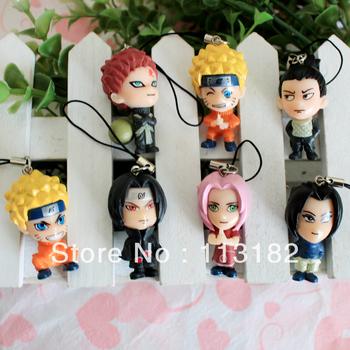 Hand-done i love kakashi anime doll dolls mobile phone chain model