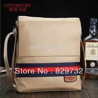 Free shipping 2014 new genuine leather man bag shoulder messenger bag casual cowhide men's bags