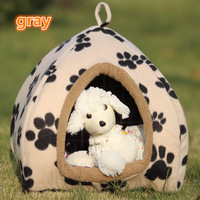 Free Shipping Lovely warm colorful Pet Nest can mention Kennel Collapsible yurt Dog Cat Houses include Mat, 3 color M/L/XL