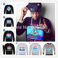 Pink dolphin hoodie sweatshirt MEN casual sportswear streetwear sweater hip hop hoodies Rock sport suit 2014 Skateboard sweats