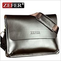 Free shipping new 2013 ZEFER male bag shoulder bag han edition men's briefcase real cowhide bag, leisure Men's messenger bags