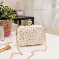 2014 christmas gifts 2014 stone pattern day clutch chain bag beige red messenger bag clutch evening bag small women's handbag