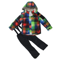 2013 children windproof 1000 ski jackets+pant kids' winter snow suit kid's outdoor wear boy ski sets -20-30 degree winter wear