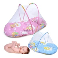 V1NF Portable Baby Bed Crib Folding Mosquito Net Infant Cushion Mattress Pillow DHL EMS FeDex Free shipping Mail