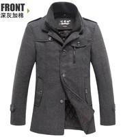 2014 New Style Winter Jackets For Men Splice Wool Jacket Outdoor Men's Slim Fit Thicken Trench Outerwear Mens Winter Overcoat