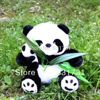 Free Shipping Nice Design Medium 25CM Cute Plush Doll Bamboo Panda Lovely Stuffed Kids Cartoon Toys Panda Birthday Gift For Baby