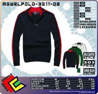 Male pullovers cotton Knitwear Sweater coat Jacket MSWRLPOLO-9511-DB DARK BLUE SMALL LOGO winter  woolly jersey jumper half zip