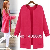 New 2013 Han Edition Dress Coat, Long Women Sweaters, Multicolor Fashion Leisure Dress Coat, Free Shipping