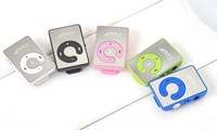 Free Shipping Mini Clip Mp3 Player / Lovely Mirror Music Mp3 Player /2013 Newest MP3 not including TF card/ earphone/ usb cable
