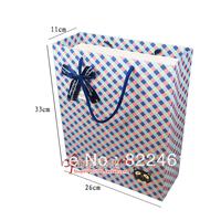 33*26*11CM New high-grade grid vertical version of the gift bag gift paper bag large wholesale