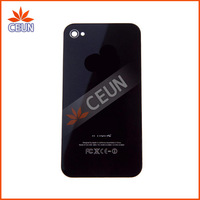 100 pcs/lot Back Glass Battery Housing Door Cover Replacement Part GSM CDMA for iphone 4/4S Black White Color
