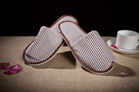 Freeshipping by EMS 7-15Days Delivery Star hotel clubs disposable slippers,two colors Striped cotton slippers wholesale