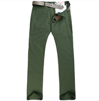 New Arrivals Casual Men Pants, Natural Cotton Men Trousers with Black, Green, Yellow, Khaki