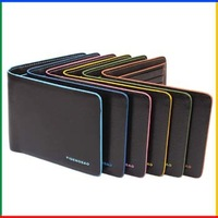 New fashion brand cute wallet man waterproof billfold colorful leather man purses for male