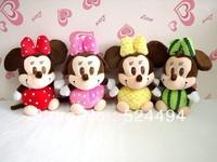 Free Shipping Fruit Michey Minnie Mouse Plush Children Doll birthday Gift Wholesale Plush Toys 20cm 4pcs/lot  xqw194