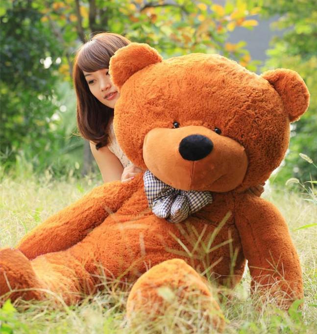 LB07 Giant 100cm Big Cute Beige Plush Teddy Bear Huge Soft 100 Cotton Toy(China (Mainland))