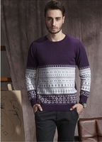 Brand new autumn winter men's pullover sweater Korean casual cotton sweater bottoming shirt wholesale men topcoat male Blouse