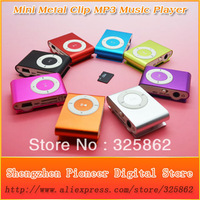 Hot Sell 50pcs/lot MINI Metal Clip MP3 Music Player Christmas Gift MP3 Player Support Micro SD(TF) Card 8 Colors Free Shipping