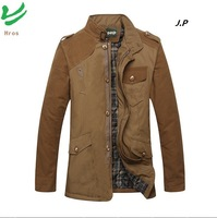 HROS Recommend 2014 Famous Brand Men's Clothing Thick Spring & Winter Jackets 3XL Plus Size Man Outwear Casual Man's Blazers