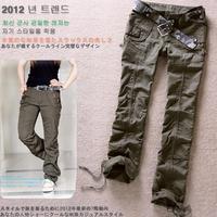 pants women 2013 fashion camouflage pants sport cargos women's military cargo sport pants overalls trousers women size S-XXL